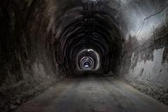 la galleria d'ingresso alla miniera