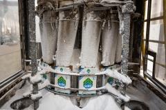 fasi del riempimento dei pacchetti di sale