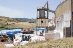 vista esterna dello stabilimento di produzione del sale