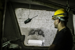 operaio durante le fasi di scavo